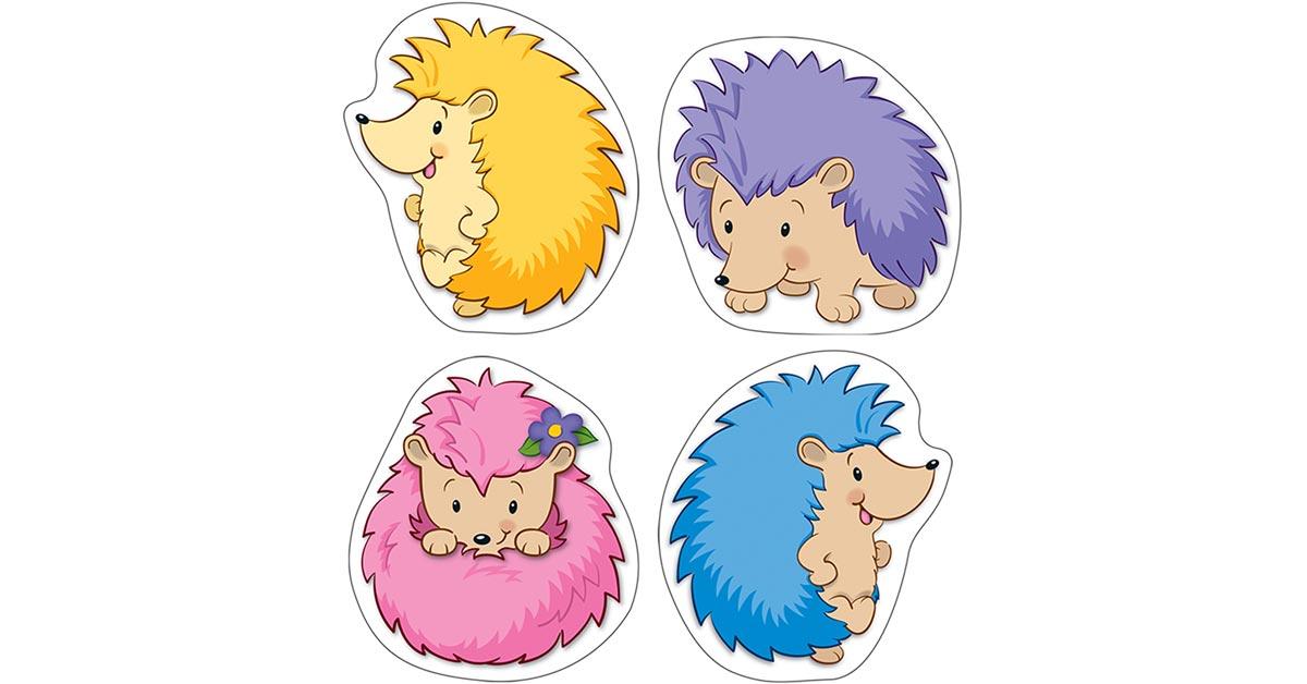 Hedgehog Classroom Decor : Happy hedgehogs cut outs cd carson dellosa