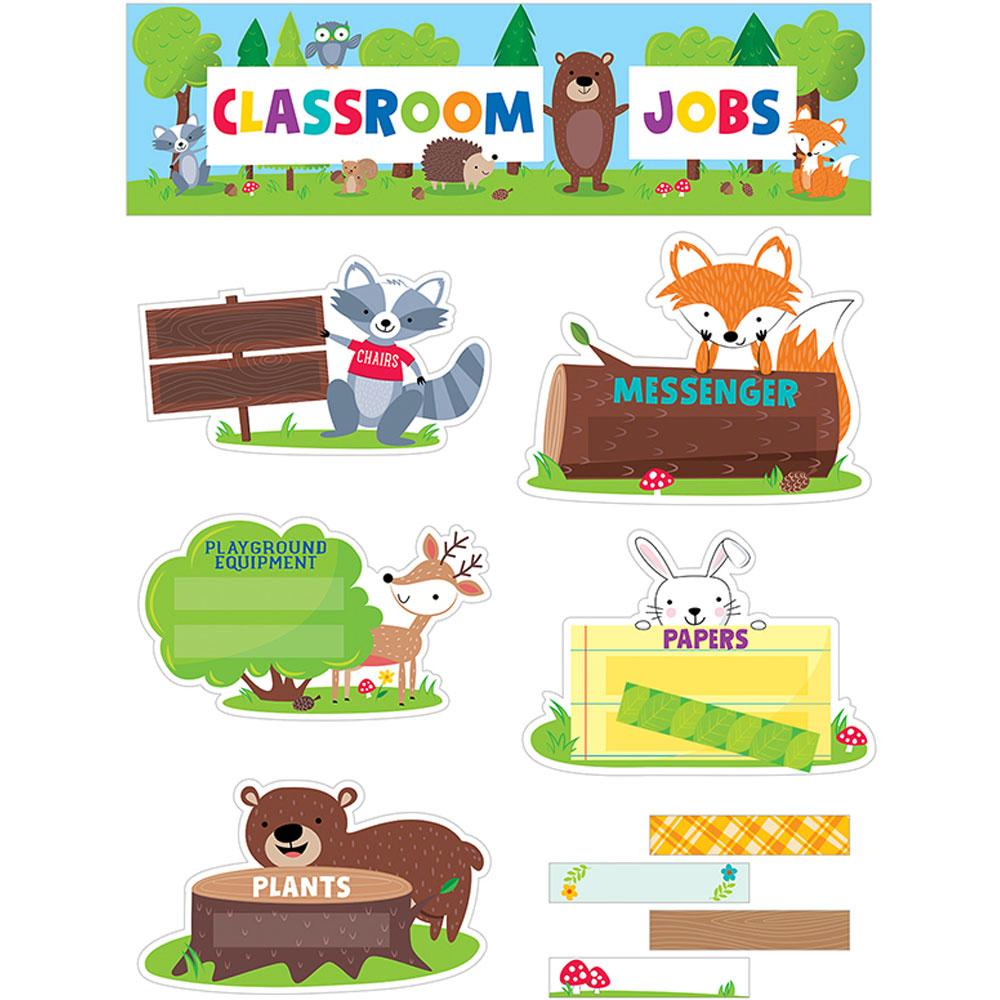 Classroom Decorations Bulletin Board Set ~ Classroom jobs mini bulletin board set woodland friends
