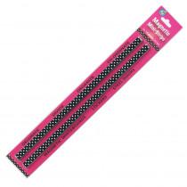 ASH11053 - Mini Magnetic Magi Strips B/W Dots in Whiteboard Accessories