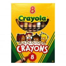 BIN008W - Multicultural Crayons Reg 8Pk in Crayons