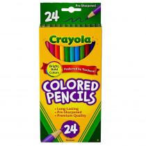 BIN4024 - Crayola Colored Pencils 24Pk Asst in Colored Pencils