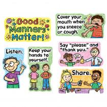 CD-110109 - Good Manners Matter Mini Bulletin Board Set in Social Studies