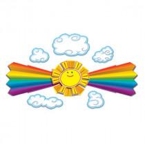 CD-110144 - Sun And Rainbow Bulletin Board Set in Classroom Theme