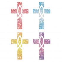 CD-2150 - Dazzle Stickers Crosses 120/Pk Acid & Lignin Free in Inspirational