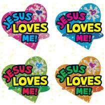 CD-2178 - Dazzle Stickers Jesus Loves 120/Pk Me in Inspirational