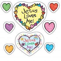 CD-268018 - Jesus Loves Me Stickers in Inspirational