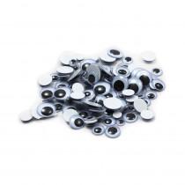 CHL64530 - Wiggle Eyes Peel N Stick Black Asst Sizes 100Ct in Wiggle Eyes