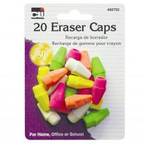 CHL80792 - Eraser Caps Neon Asst in Erasers