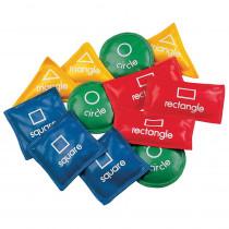 CHSGS55 - Bean Bag Set Geometric 5In 12/Set in Bean Bags & Tossing Activities