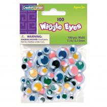 CK-344601 - Wiggle Eyes Asst Size100 Multi in Wiggle Eyes