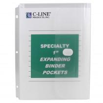 CLI33747 - Binder Pocket Velcro Closure 10Pk Specialty Binderpocket Clear in Folders