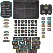 CTP1844 - Chalk It Up French Calendar Bulletin Board Set in Bulletin Board Sets