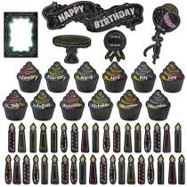 CTP6961 - Happy Birthday Mini Bulletin Board Set - Chalk in Miscellaneous