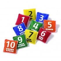 CTU7062 - Number & Dot Bean Bags in Bean Bags & Tossing Activities