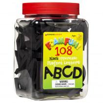 DO-733104 - Foam Fun Uppercase Black Magnet Letters in Magnetic Letters