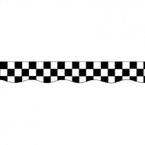 EP-641 - Border Black & White Checks in Border/trimmer