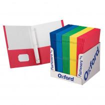 ESS50764 - School Grade Twin Pocket Folders With Fasteners 100 Per Box in Folders