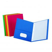 ESS57713 - Twin Pocket Portfolios Box Of 25 W/ Fasteners in Folders