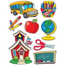 EU-846021 - More School Supplies 12X17 Window Clings in Window Clings