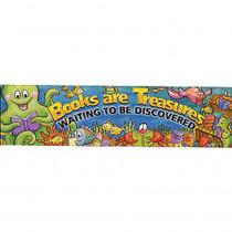 EU-84973 - Banner Books Are Treasures 45 X 12 Horizontal in Banners