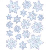 EU-98264 - Window Cling Snowflakes 12 X 17 in Window Clings