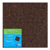 FLP12058 - 12X12 Dark Cork Squares 4 Pk in Cork Boards