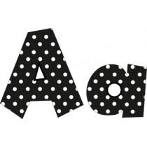 FST5140 - Black - 4In Polka Dot Letters in Letters