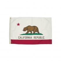 FZ-2042051 - 3X5 Nylon California Flag Heading & Grommets in Flags
