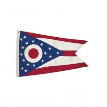FZ-2342051 - 3X5 Nylon Ohio Flag Heading & Grommets in Flags