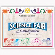 H-VA572 - Certificates Science Fair 30/Pk 8.5 X 11 in Science