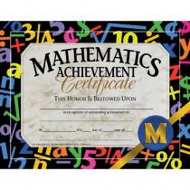 H-VA581 - Certificates Mathematics 30/Pk Achievement 8.5 X 11 in Math