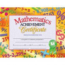 H-VA681 - Mathematics Achievement 30Pk Certificates 8.5 X 11 Inkjet Laser in Math