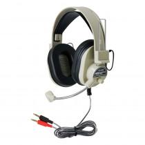HECHA66M - Deluxe Multimedia Headphone W/ Mic in Headphones
