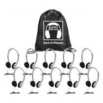 HECSOPHA2 - Sack O Phones 10 Ha2 Personal Head Sets Foam Ear Cushions In Bag in Headphones