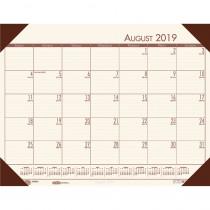 HOD012541 - Academic Ecotones Desk Pad Cream Paper Brown Holder in Calendars