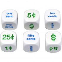 KOP13879 - Money Dice Set Of 6 20Mm in Dice