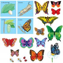 LFV22306 - Butterflies Precut Flannelboard in Flannel Boards