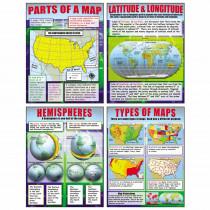 MC-P222 - Basic Map Skills Teaching Poster Set in Social Studies