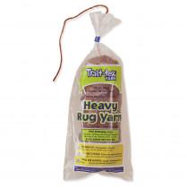 PAC04053 - Heavy Rug Yarn Brown 60 Yards in Yarn