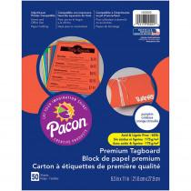 PAC1000022 - Premium Tagboard Pumpkin Orange in Tag Board