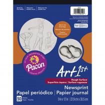 PAC3440 - Art1st Newsprint Pad 9X12 50 Sht in News Print