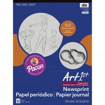 PAC3445 - Art1st Newsprint Pad 18X24 50 Sht in News Print