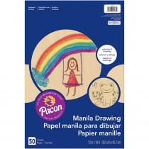 PAC4139 - Drawing 12X18 Manila Juv  50Ct in Sketch Pads
