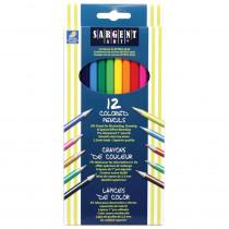 SAR227212 - Sargent Art Colored Pencils 12/Set in Colored Pencils