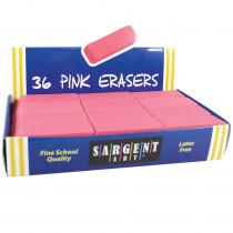 SAR361012 - 36Ct Large Pink Eraser Pack in Erasers