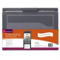 SMD92061 - Smead Cascading Wall Organizer Gray With Neutral Pockets in Storage