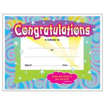 T-2954 - Certificate Congratulations 30/Pk Spirals 8-1/2 X 11 in Certificates