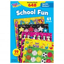 T-63904 - Sparkle Stickers School Fun in Stickers
