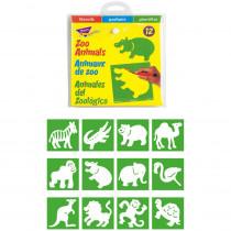 T-65005 - Stencils Zoo Animals in Stencils