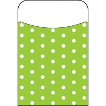 T-77045 - Polka Dots Lime Terrific Pockets in Organizer Pockets